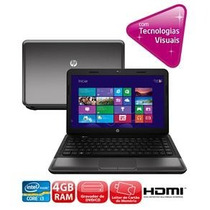 Notebook Hp 1000-1240br Com Intel Core I3 2gb 320gb Led 14
