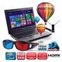 Notebook Positivo 3d Com Tv Dual Core 4gb De Memória 500gb
