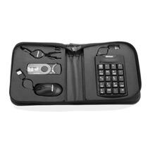 Kit Viagem P/ Notebook Mouse Leitor De Cartões Fone Teclado