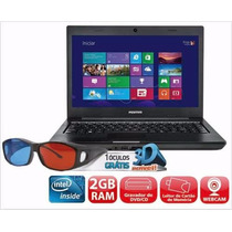 Notebook Positivo Unique 3d Com Intel® Dual Core, 2gb,320gb