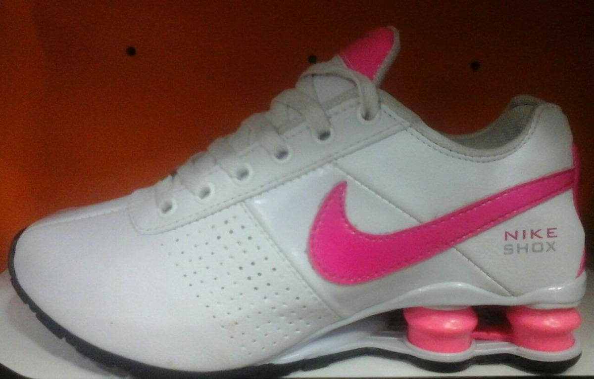 tenis nike shox rosa e brancos
