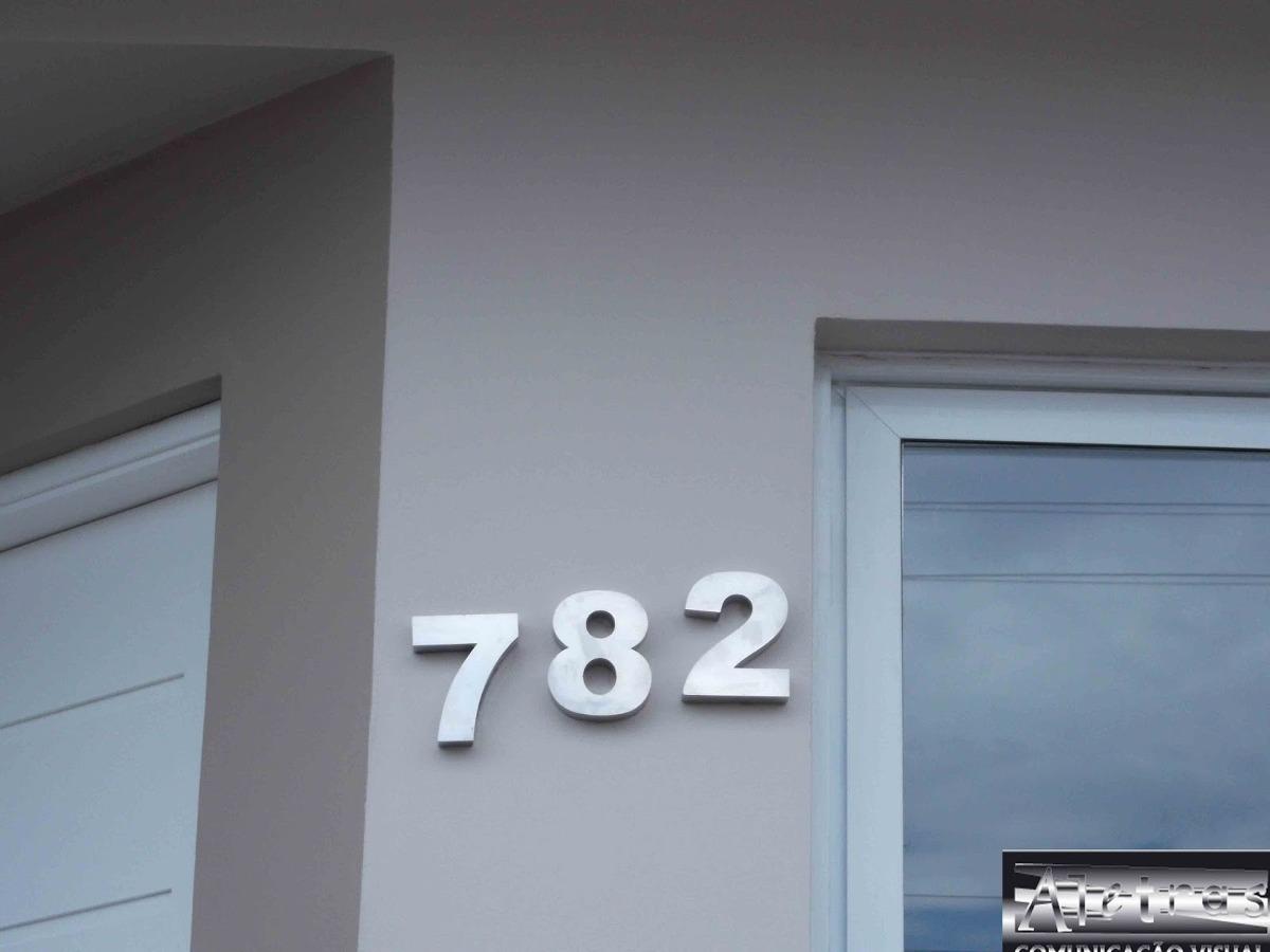 Numero a o inox 304 espelhado polido residencial casa for Casa moderna numero 1