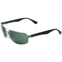 Óculos De Sol Ray Ban Rb3445 Cinza E Preto 64-17 Original