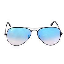 Óculos Ray Ban Aviador Preto Azul Espelhada Original Promoça
