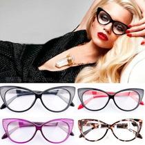 Armação P/ Óculos De Grau Gatinho, Retrô, Estiloso, Vintage