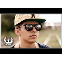 Óculos Rb4187 Chris Veludo Preto Espelhado Mc Dudu