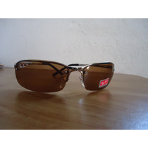 Oculos De Sol 3217 Dourado Lentes Marrom Polarizadas