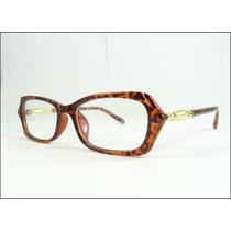 Armação Oculos De Grau Tartaruga E Dourado Lançamento A600