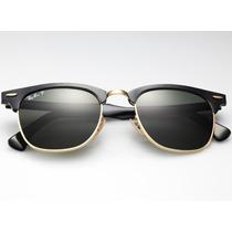 Óculos De Sol Feminino E Masculino Rayban Clubmaster + Case