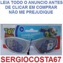 Oculos De Sol Infantil Menino Toy Story C 4 + Carros Aranha