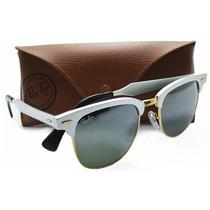 Óculos De Sol Ray-ban Clubmaster Alumínio Rb3507 - Prata