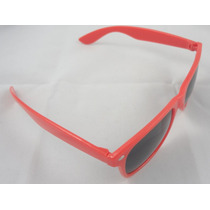 Óculos Escuros De Sol Estilo Wayfarer Vermelho