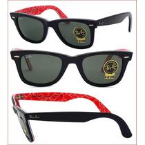 Óculos Ray Ban Original Wayfarer 2140 Logomania 1016 E 1017