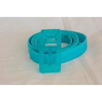 Cinto Silicone Antialérgico Fivela Plástico Azul Claro