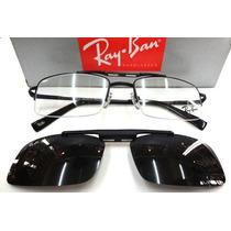 Oculos Armação De Grau Rb8569 Clip On Polarizado Quadrado
