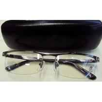 Armação Oculos De Grau Masculina Cor Grafite+ Case+ Pano