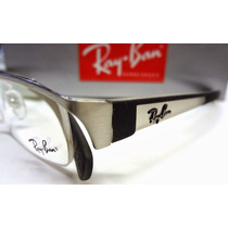 Armação De Oculos Grau Ray-ban Rb6124 Prata+ Case+flanela