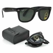 Óculos Ray Ban Wayfarer Dobrável Rb4105 Aviador Novo