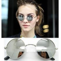 Óculos De Sol Redondo/round, John Lennon, Ozzy, Espelhado