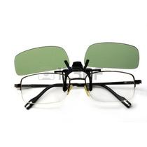 Óculos De Sol Clip-on Polarizado Verde