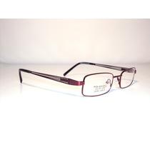Armação D Óculos Infantil Ou Adulto Metal Vermelho Mj