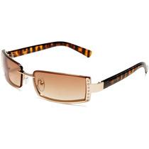 Oculos De Sol Steve Madden Importado Dourado Strass Tartarug