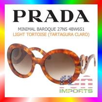Óculos Prada Minimal Baroque 27ns 4bw6s1 Light Tortoise
