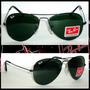 Óculos Aviador 3026 G Grafite Lentes Verde Frete Grátis