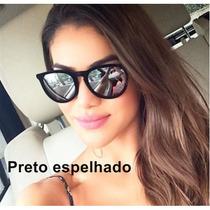 Oculos De Sol Feminino Veludo Erika Velvet Espelhado Uv400
