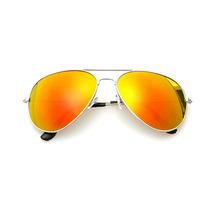 Óculos De Sol Aviador Lente Espelhada Estilo Ray-ban