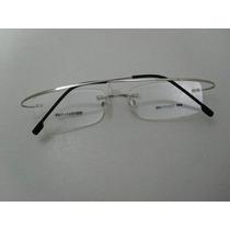 Armação P/óculos De Grau S/aro Em Aço Inoxidável