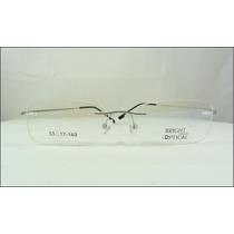 Armação Óculos De Grau Sem Aro Feita De Titanium Prata A408