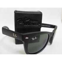 Óculos Wayfarer 4105 Grande 54mm Preto Fosco Lentes Verdes!