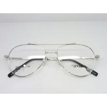Armação Óculos De Grau Em Liga De Titanio Estilo Aviador