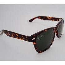 Óculos Wayfarer 2140 Tartaruga Lentes Verdes Tamanho Médio!
