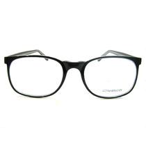 Armação Retrô Em Acetato Grande - Preto - Óculos P/ Grau