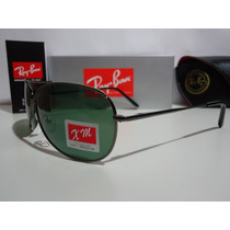 Óculos Aviador 8015 Grafite Com Lentes Verdes !! Aviator !!