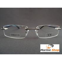 Armação Balgriff Alumínio Sem Aro Leve Discreto Óculos Grau