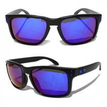 Óculos Oakley Holbrook Armação Preta Fosca Lente Azul