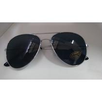 Leilão De Óculos De Sol Preto Armação Prata Aviador Unissex