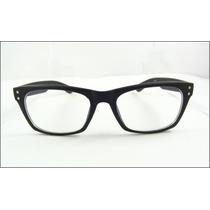 Armação Óculos De Grau Wayfarer Preto Fosco Fashion - A613