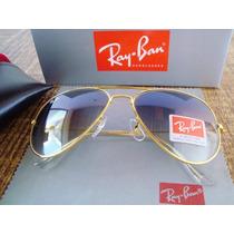 Ray Ban Rb3026 - Azul Com Lentes Degrade Com Dourado