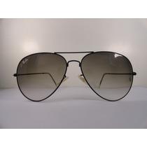 Oculos De Sol Estilo Aviador 3025 Grafite Lente Fume Degrade