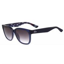 Óculos De Sol Lacoste Azul Translúcido Com Lente Cinza