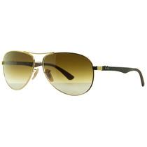 Óculos De Sol Ray-ban Rb 8313 001/51 Dorado Tech / Café