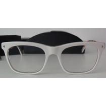 Prada: Óculos De Grau Estilo Wayfarer Branco Original