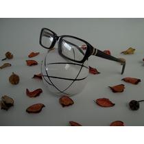 Armação Feminina Óculos P/ Grau Cor Preta Acetato Quadrada