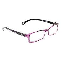 Armação D Óculos Para Grau Flexível Preto Roxo 2208 C38 Mj
