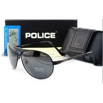 Óculos D Sol Polarizado Police 100%uvauvb Masculino Aviador