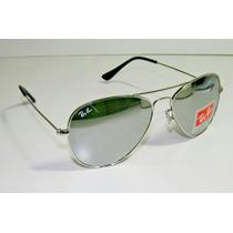 Óculos Ray Ban Aviador 3025 M Prata Lentes Espelhado
